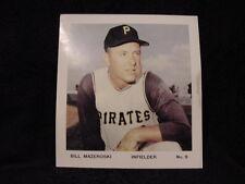 ULTRA RARE 1960's Bill Mazeroski Pittsburgh Pirates 8 3/4 x 9 1/2 Color Photo!