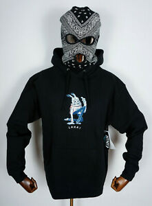 Lakai Skate Schuhe Shoes Hooded Sweatshirt Sweater Bunny Pullover Black in M