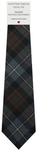 Mens Clan Tie Made in Scotland MacRae Hunting Weathered Tartan