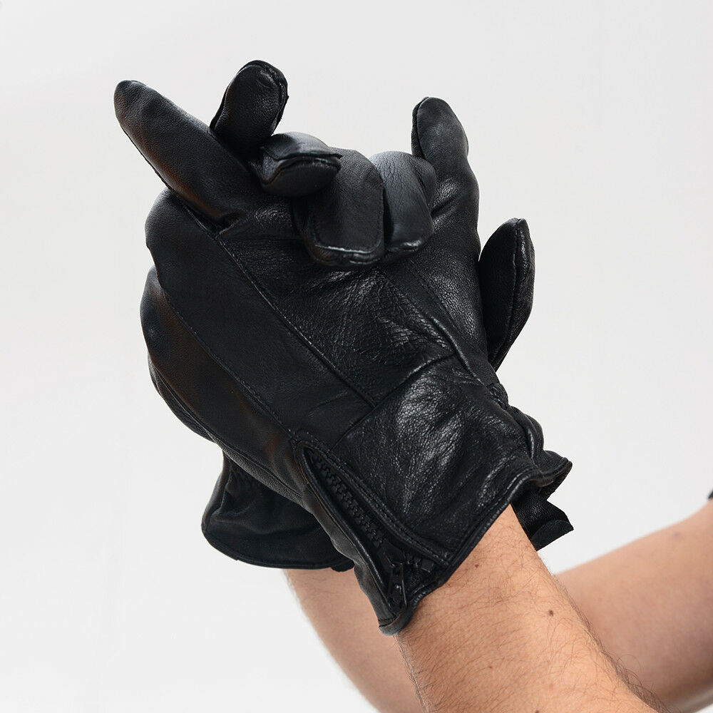 Herren Winter geschlossene Finger Leder Thermo Handschuhe mit fantastisch Design Design Design | Perfekt In Verarbeitung  9bde7d