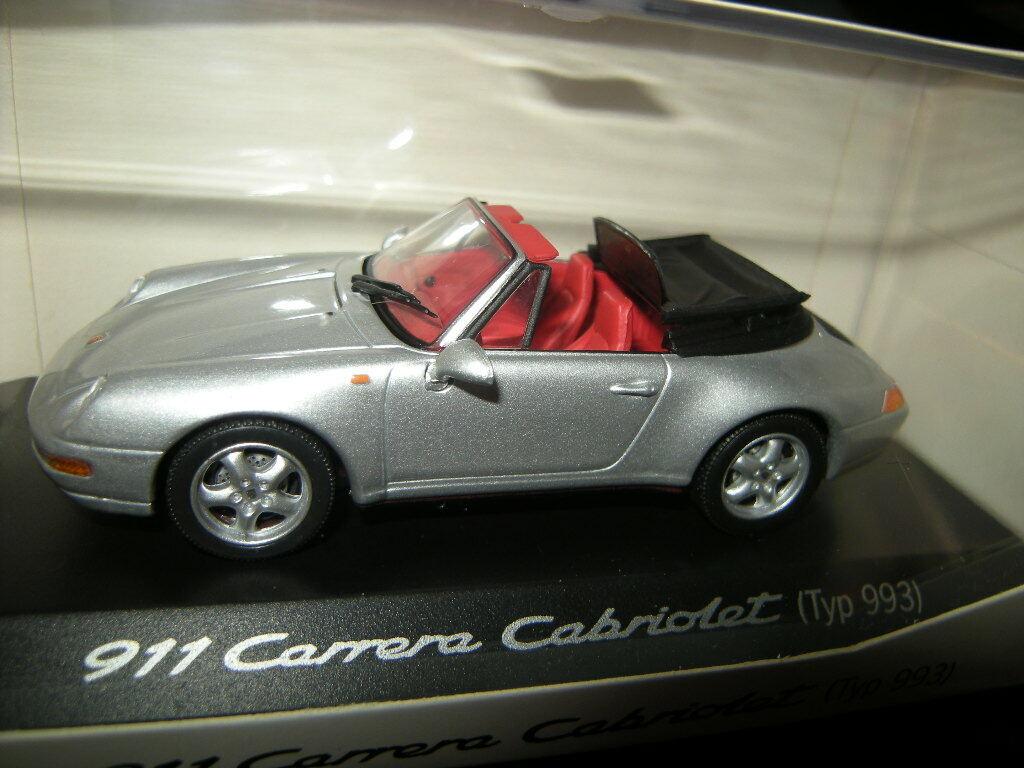 1 43 Minichamps Porsche 911 Typ 993 Cabrio silber Silber Nr. WAP02003997 in OVP