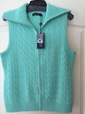 New Ralph Lauren Polo Golf 100% Cashmere Zipper Cable Sweater Vest $350 Size L