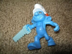 Smurf-Figurine-2011-Peyo-Smurfs-Movie-HANDY-McDonald-039-s-Vietnam-PVC-Figure
