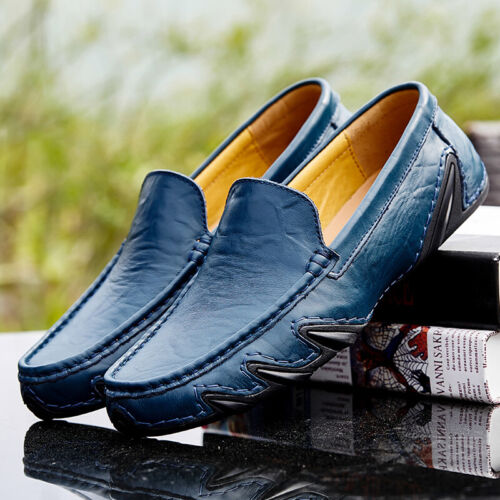 New Mens Driving Moccasins Gommino Casual Loafers Shoes Slip On  Shoes Plus Size