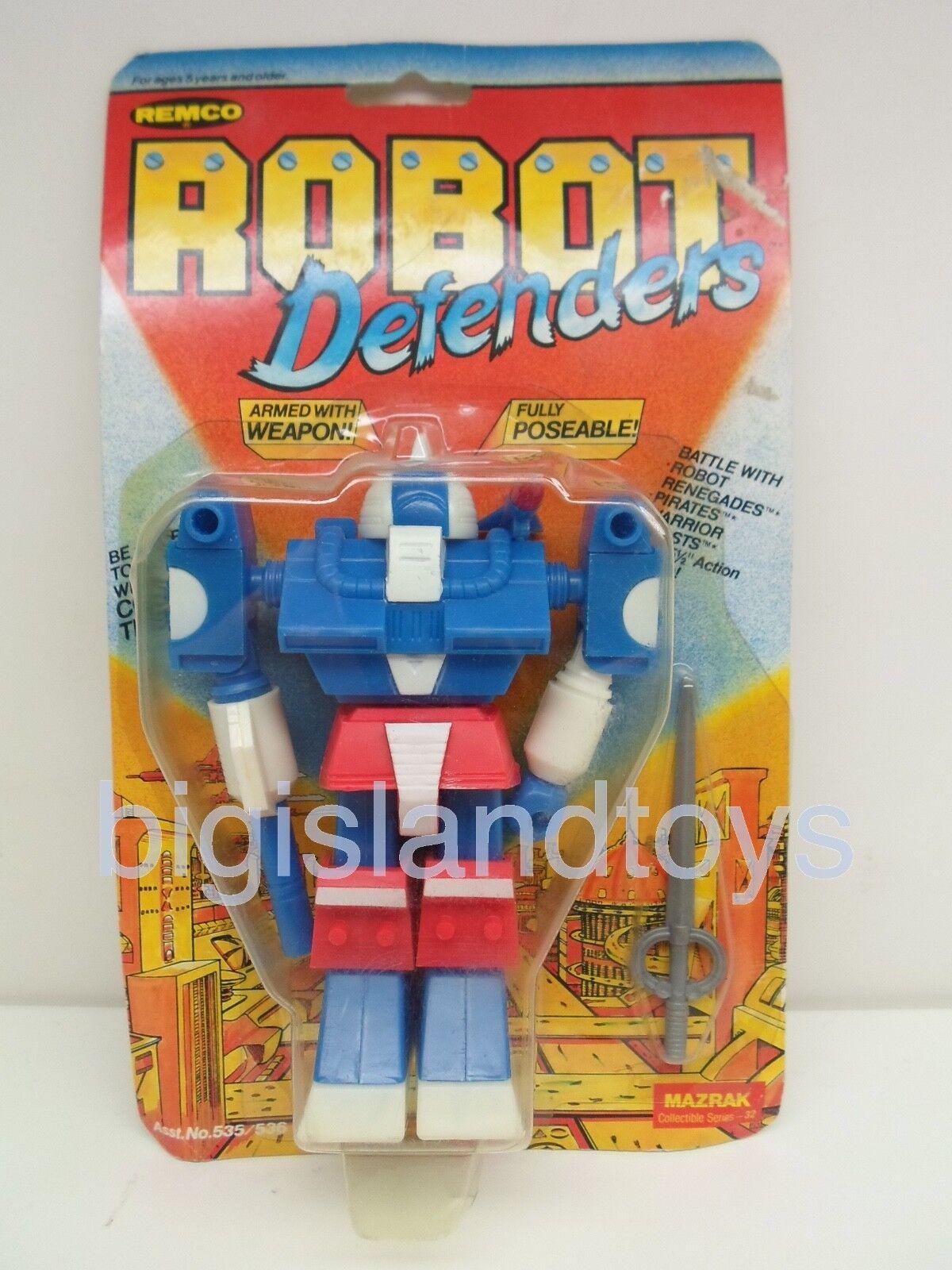 Robot Defenders & Renegades Remco 1982 Mazrak Action Figure Sealed