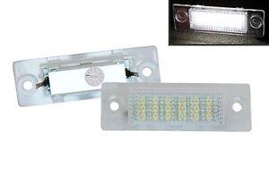 LED-Kennzeichen-Beleuchtung-VW-T5-Caddy-Touran-Jetta-Golf-Plus-24LED-E11-12V