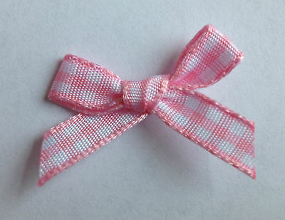 7MM GINGHAM RIBBON CHECK BOWS ARTS CRAFTS CARDMAKING EMBELLISHMENTS APPLIQUES