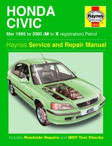 new haynes service repair manual honda civic 1995 2000 19952000 ebay rh ebay com 1995 honda civic factory service manual honda civic 1995 service manual download