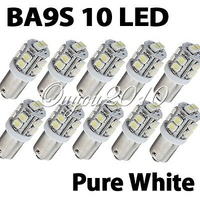 10x T11 BA9S T4W 10 SMD Xenon White Hi-Power LED Side Light Lamp Bulb Car 12V UK
