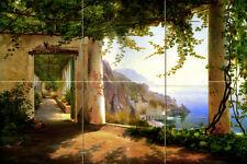 18 x 12 Amalfi Coast Aagaard Mural Ceramic Decor Bath Backsplash Tile #170