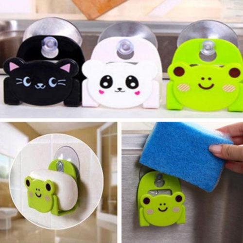 Kitchen Sink Sponge Holder Bathroom Organizer Storage Strainer Hanging Rack Tool