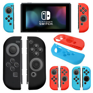 low priced ca713 6ebab Details about Silicone Rubber Skin Case Gel Cover Grip For Nintendo Switch  Joy-Con Controller