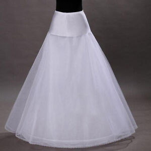 UK-STOCK-NEW-WHITE-ONE-HOOP-BRIDAL-WEDDING-GOWN-CRINOLINE-PETTICOAT-UNDERSKIRT
