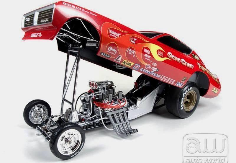 Gene nieve bravucón Dodge Cargador Vintage Diverdeido Coche Auto World 1 18 Asociación Nacional de Hot Rod Drag