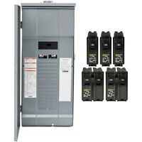 Square-d Homeline 200amp 30-circuit 60-space Outdoor Main-breaker Box Load-panel