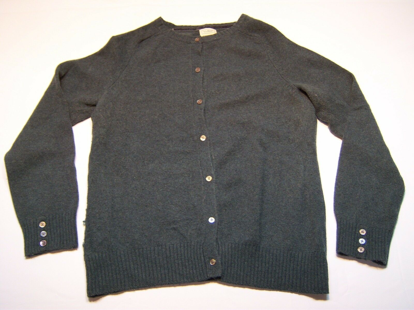 L.L Bean Casual Button Down Cardigan Sweater Women's Size L