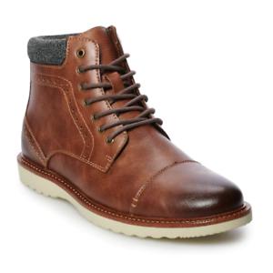 Life Joshua Ankle Boots Shoes Cognac