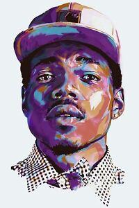 Chance the Rapper Acid Rap Fabric Art Cloth Poster 36inch x 24inch Decor 08