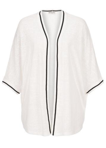 65/% Off b15080377 Femmes Brave Soul Veste Cardigan Oversize section ouverte blanc
