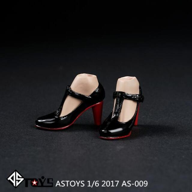 """ASTOYS 1//6 High Heels Shoes Black AS009 For 12/"""" Female Body Action Figure"""