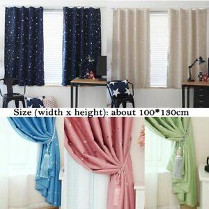 Full Blackout Shiny Stars Children Cloth Curtains For Kids Bedroom Living Room Ebay