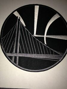 best website 31b84 9dfc3 Image is loading Golden-State-Warriors-NBA-Jersey-Patch-Black-2-