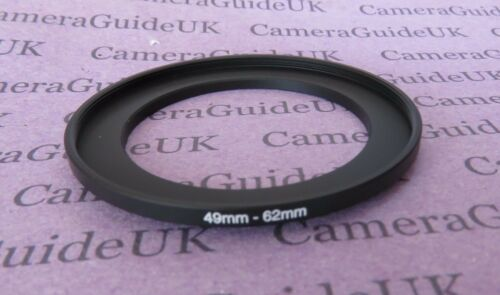 49mm-62mm Male-Female Stepping Step Up Filter Ring Adapter 49mm-62mm UK