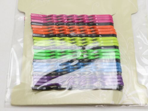 72 Mixed Color Metal Twisted Wavy Bobby Hair Pin Clips Barrette 56mm Hair Access