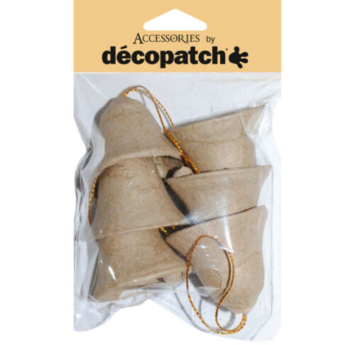 Pack of 6 Bells Decopatch AC377 Decoupage Christmas Decoration