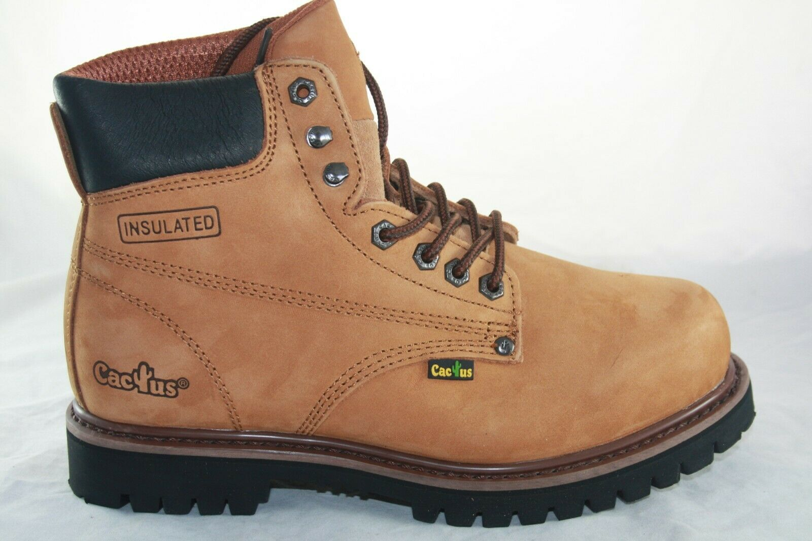 MEN'S CACTUS 611 PLUS+ BROWN  OIL RESISTANT WORK BOOTS