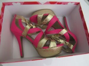b69f1e846 Image is loading PREOWNED-Guess-Shoes-Stiletto-Strappy-Sexy-Neley-Hot-