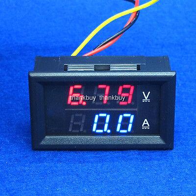 200A 100V  DC Digital Voltmeter Ammeter LED Amp Volt Meter 12v 24v Car Battery B
