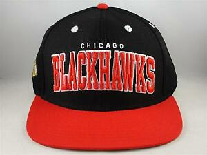 Chicago-Blackhawks-NHL-Reebok-Retro-Snapback-Hat-Cap-Black-Red