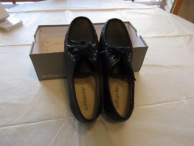 Softspots Anni Lo 103601 black 7 W shoes womens loafers oxfords lace soft spots