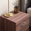 thumbnail 4 - Riano Bedside Cabinet Walnut 2 Drawer Metal Handles Runners Bedroom Furniture