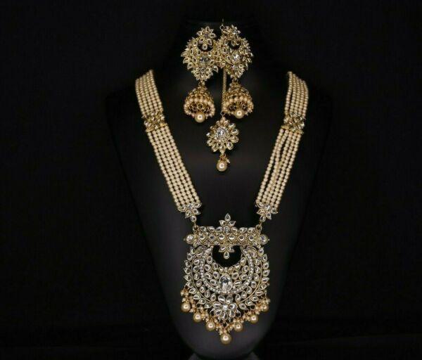 100% Wahr Indische Modeschmuck Halskette Bollywood Schmuck Set Gute QualitäT