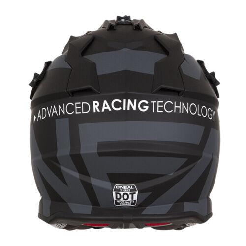 Oneal 2 Series RL Slick MX Helmet Motocross Off-Road Motorcycle Black Grey J/&S