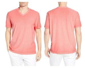 Tommy Bahama Cirrus Coast V-Neck S/S Cotton Blend Stretch XXL Mandalay Red NWT