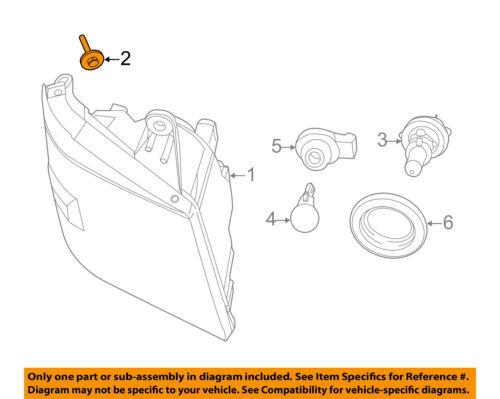 CHRYSLER OEM-Headlamp Assembly Screw 6508680AA