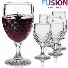 4549908053f item 5 6 Red Wine Glasses Clear Crystal Effect Glass Champagne Flutes  Wedding Drinks -6 Red Wine Glasses Clear Crystal Effect Glass Champagne  Flutes Wedding ...