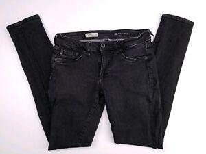 AG-Adriano-Goldschmied-Black-Legging-Super-Skinny-Stretch-Jeans-29R-29x30