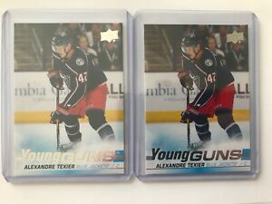 2019-20 Upper Deck Alexandre Texier Young Guns #225 RC Rookie Lot of 2 Cards