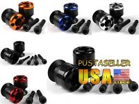 Us Ship 8mm Carbon Fiber Swingarm Sliders Spools For Honda Suzuki Bmw Ducati