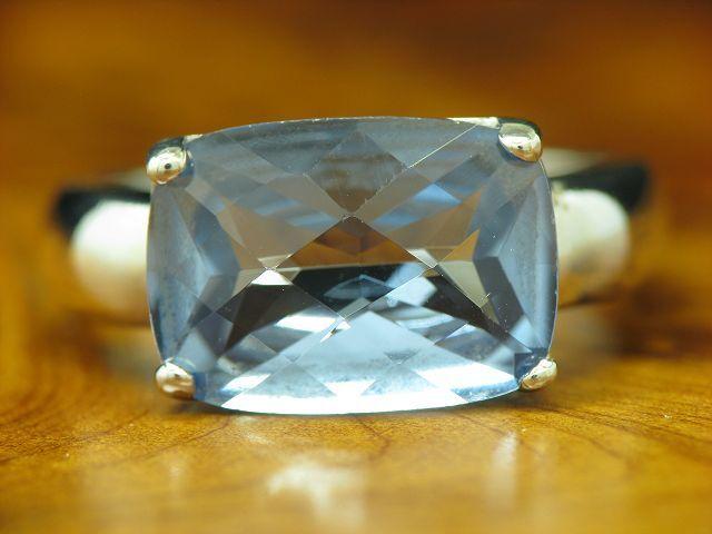 925 Sterling silver Ring mit bluetopas Besatz   Echtsilver   5,5g   RG55