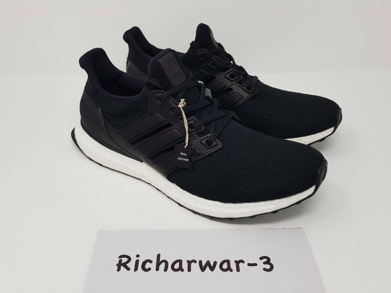 ADIDAS ULTRA BOOST Ltd 3.0 Core In Pelle Nera   12 EU 46 2/3 L SO