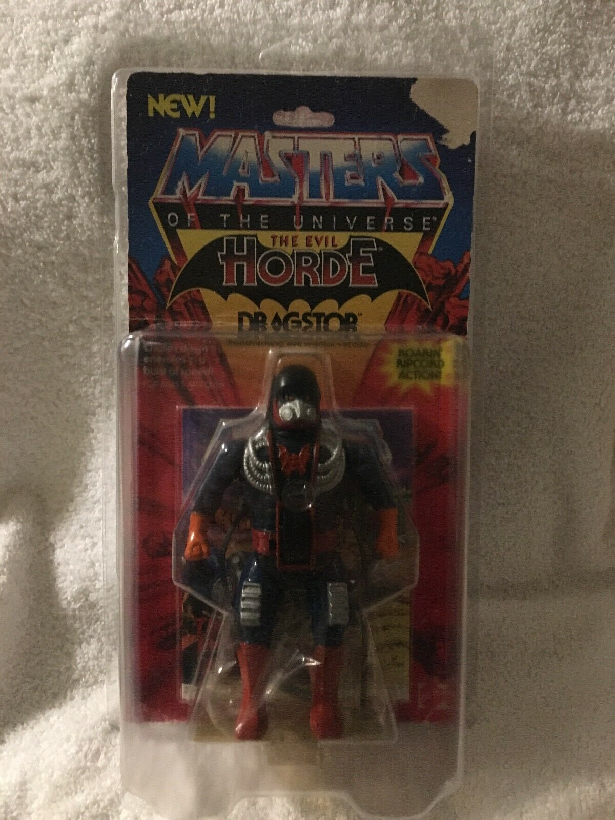 MOC SEALED MOTU Masters of the Universe He-Man DRAGSTOR In zoloworld insert.