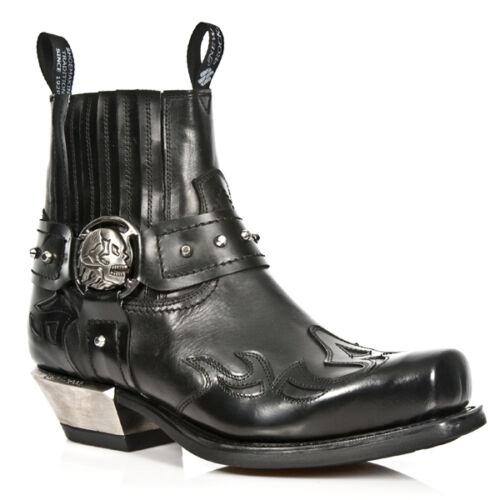 S1 Rock Punk Boots 7966 Cowboy Riding Newrock M Gothic Exclusive Mens New Black P0PUYx