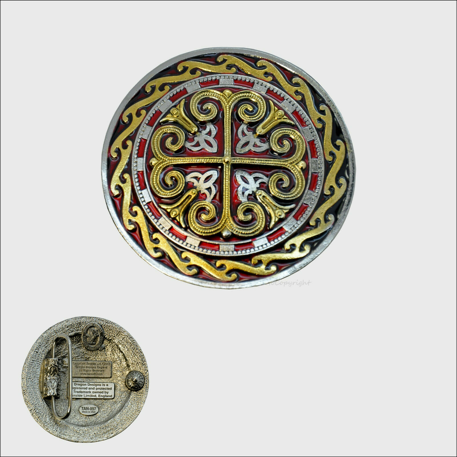 Celtic Design Belt Buckle Mittelalter Ornament Gürtelschnalle Kelten *245 rg