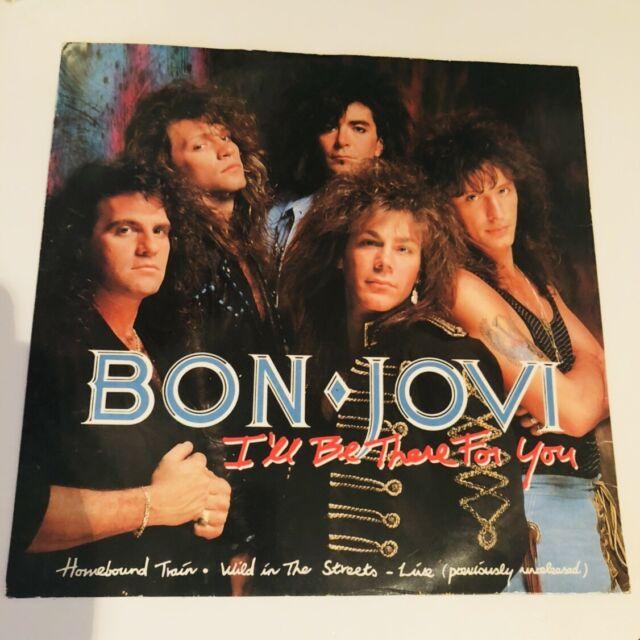 """Bon Jovi I'll Be There For You 12"""" Single Vinyl JOV512 3 Track Ltd Rock 80's"""