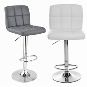 Fantastic Details About New Faux Leather Bar Stools Breakfast Kitchen Chair Chrome Swivel Barstools Uk Pdpeps Interior Chair Design Pdpepsorg